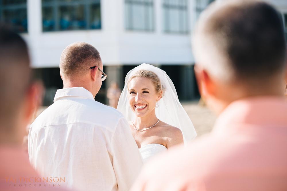 wedding ceremony bride McLoone's Pier House long branch nj
