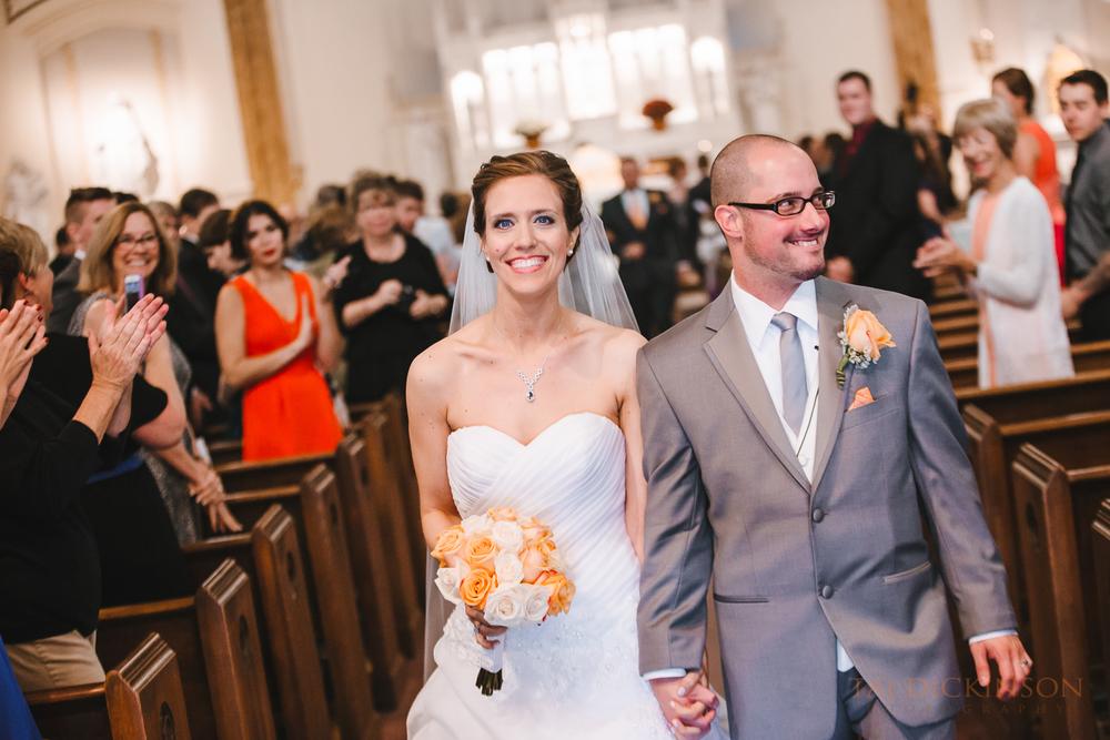 wedding ceremony bride groom recessional exit