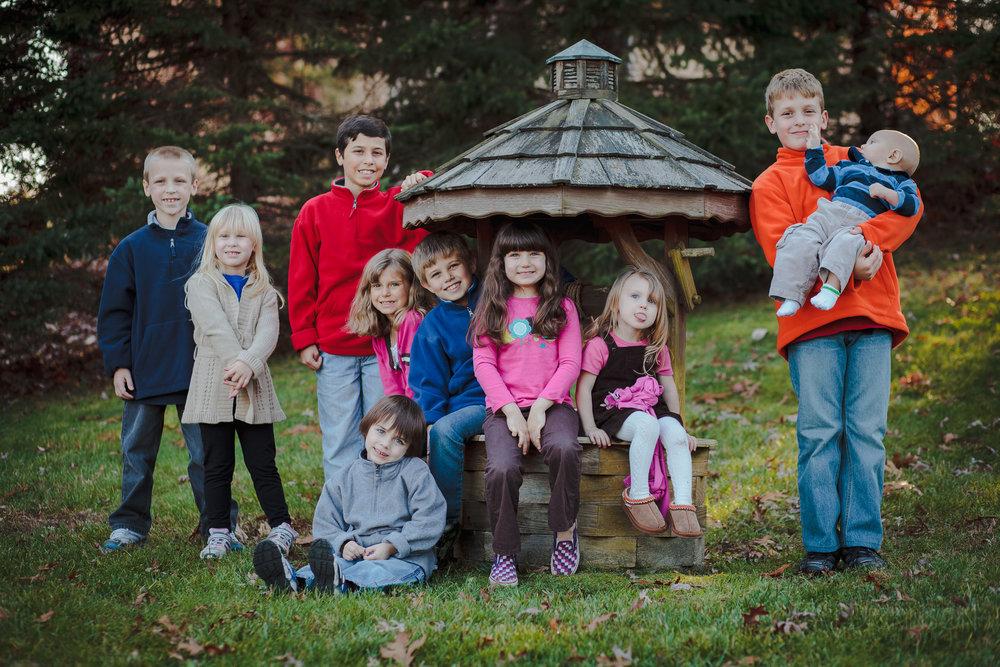 family portrait kids home
