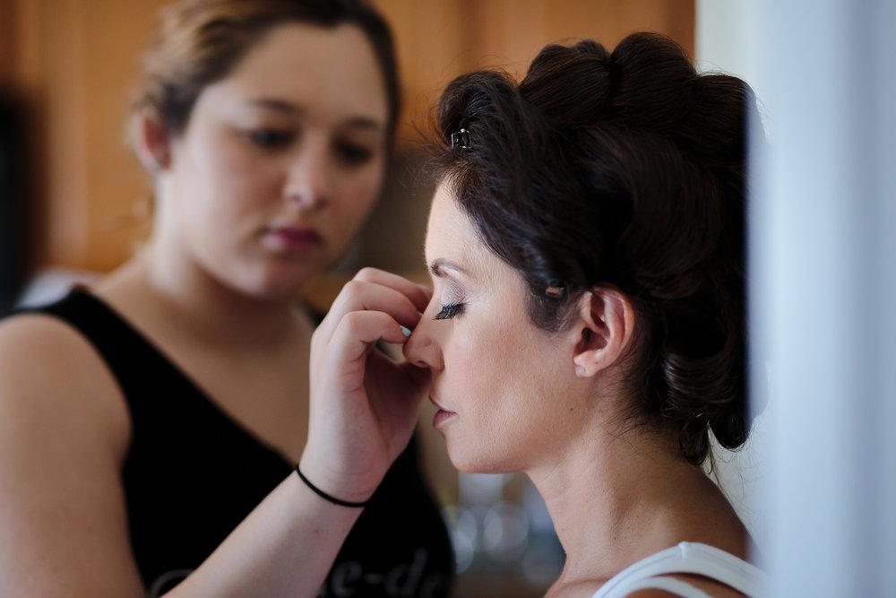 wedding bride preparations makeup