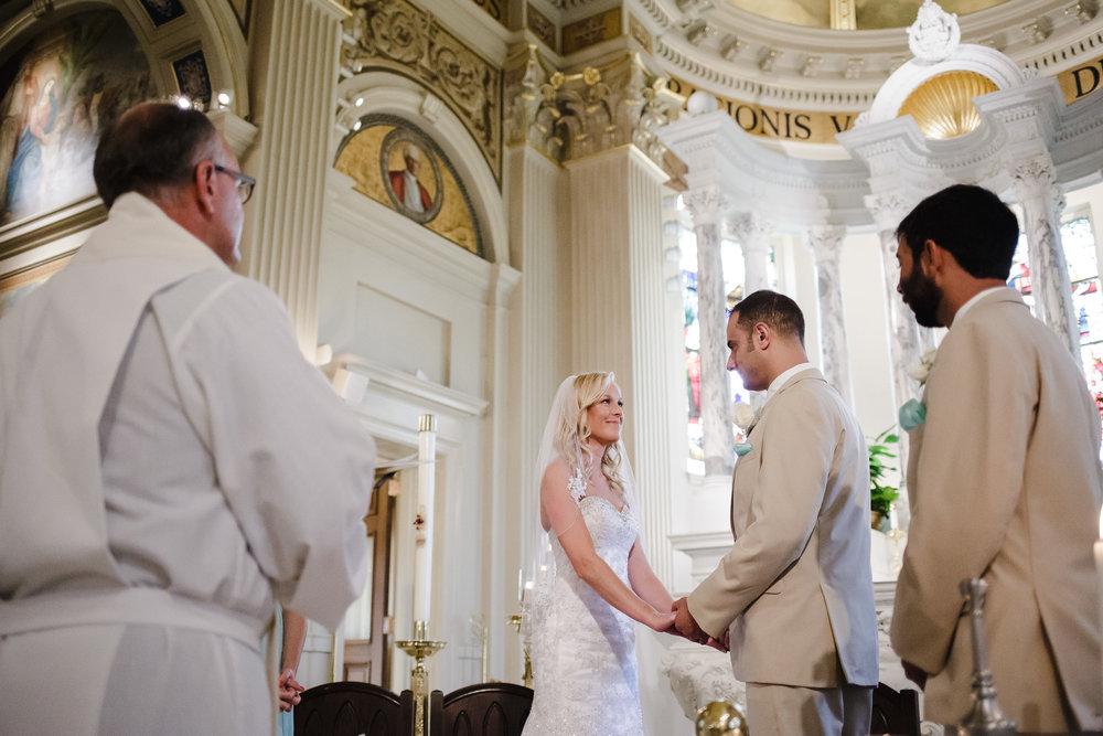 wedding ceremony bride groom st catharine's spring lake nj
