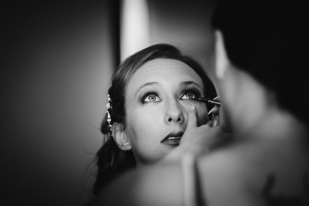 wedding bride makeup preparations