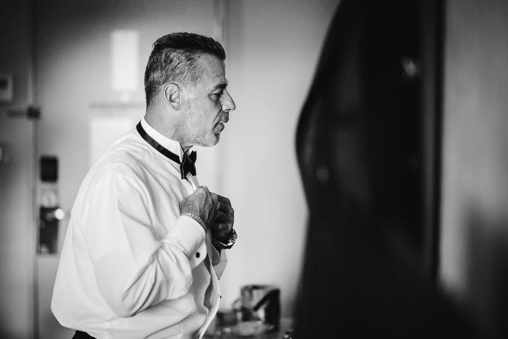 wedding groom preparation