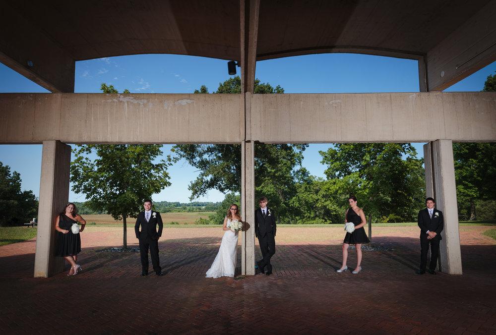 wedding party portrait monmouth battlefield park freehold nj