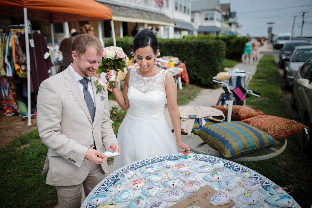 wedding bride and groom portrait ocean grove yard sale nj