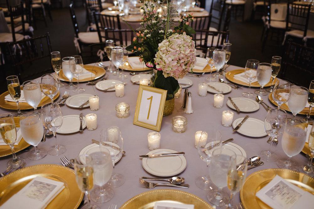 wedding reception table detail smoke rise village inn kinelon nj
