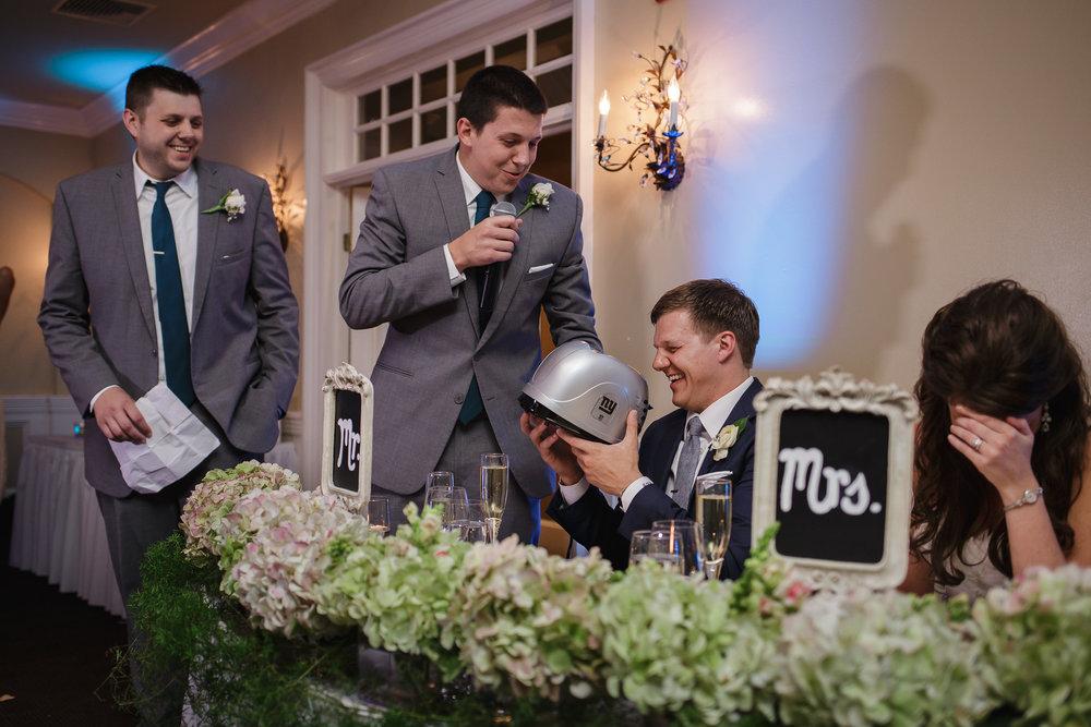 wedding reception grooms man speech mountain lakes club nj