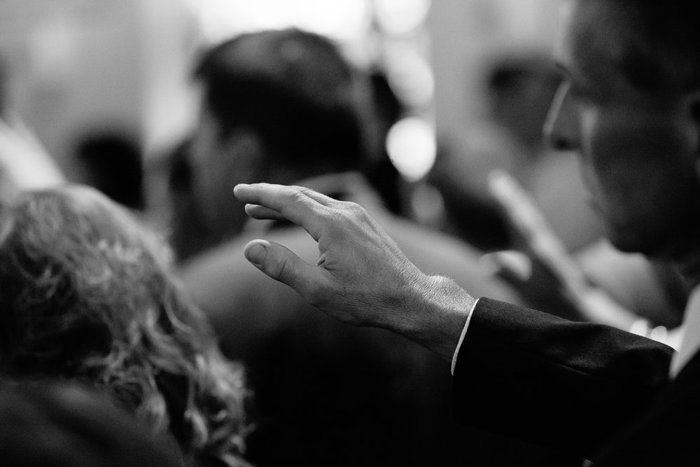 wedding ceremony hand prayer