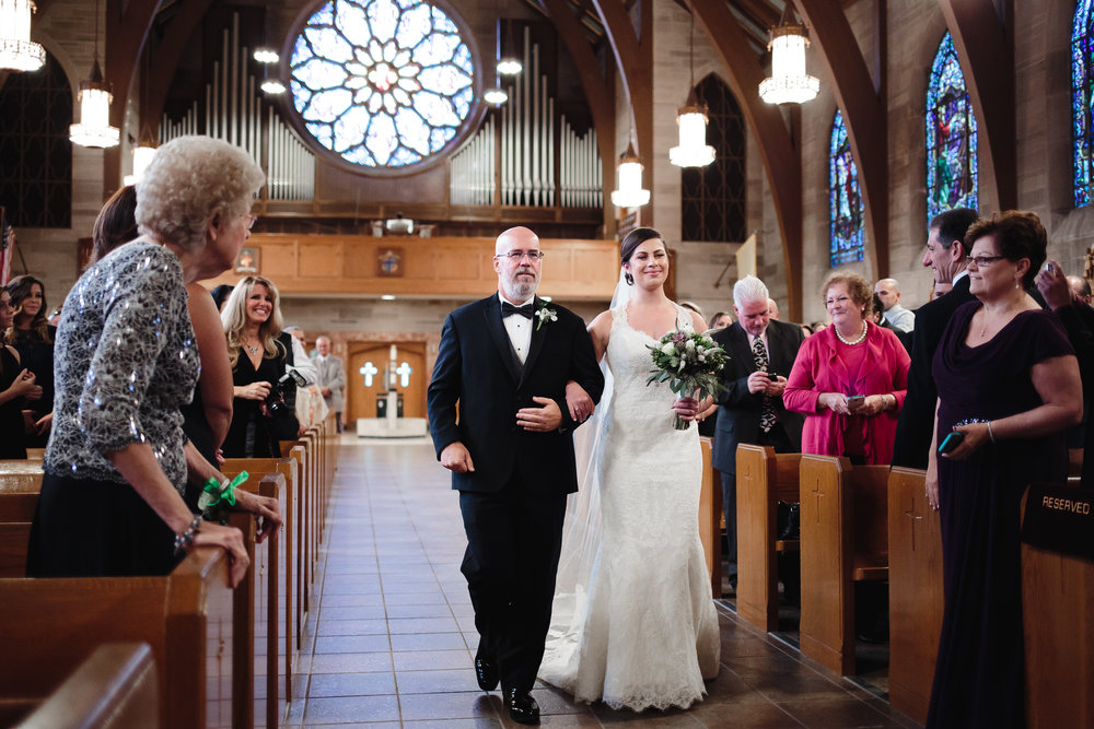 wedding ceremony processional bride entrance St. Francis of Assisi Cathedral metuchen nj