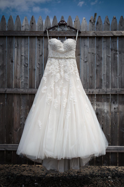 wedding dress detail close up