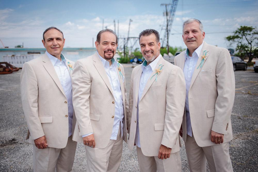 wedding groom grooms men portrait group shot point pleasant beach nj