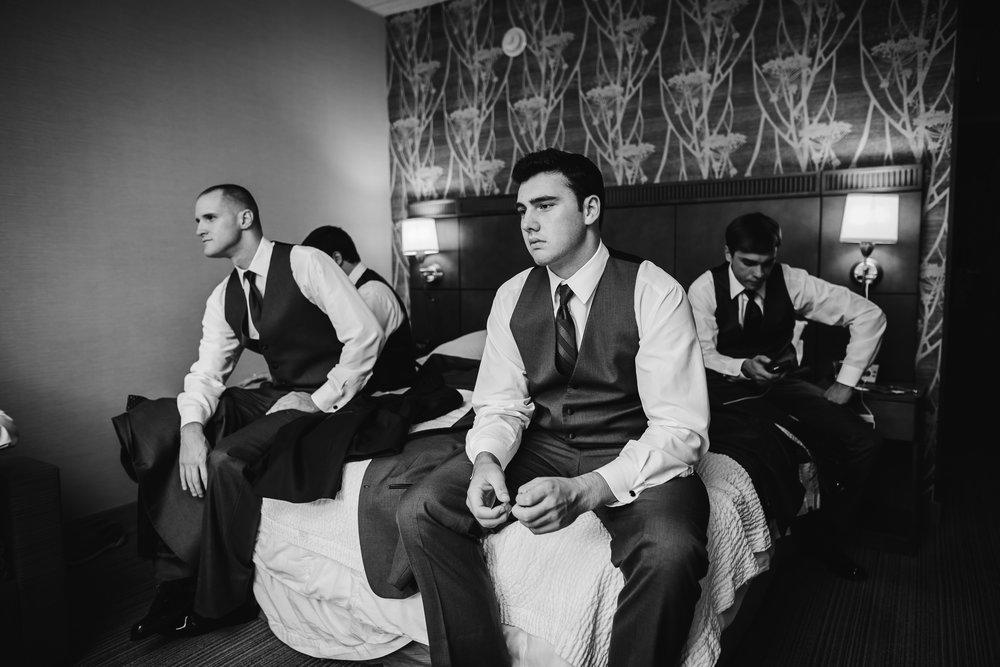 wedding groom preparations