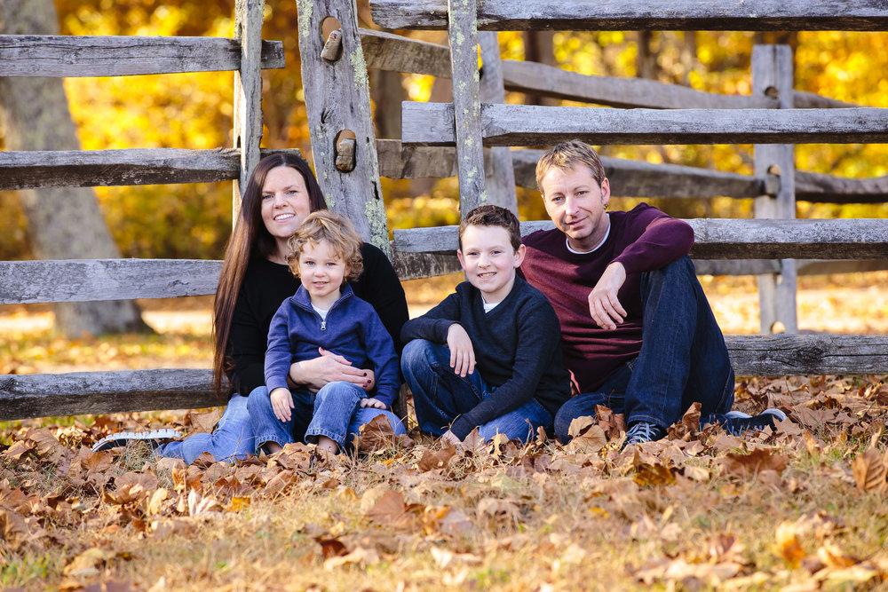 family portrait allaire village wall nj fall autumn leaves