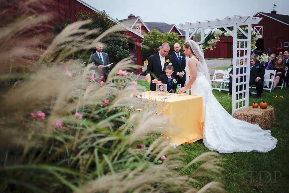 wedding sand ceremony bride groom son stone rows farm stockton nj