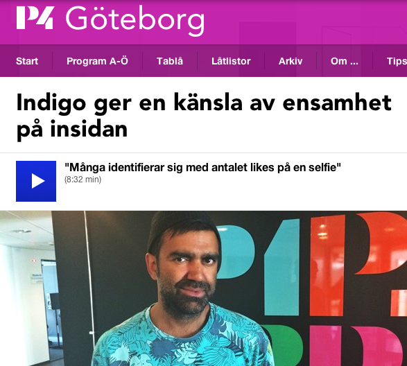 LISTEN TO INTERVIEW IN SWEDISH RADIO P4 MORGON