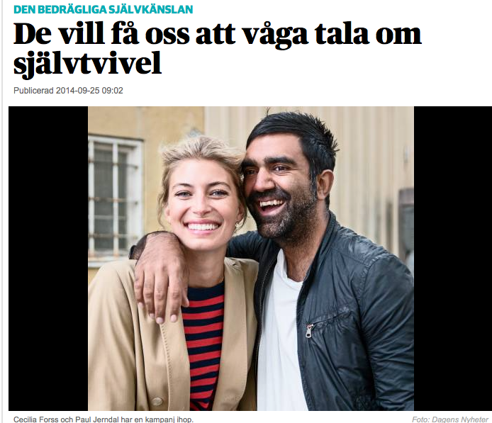 In Dagens Nyheter about self esteem and Indigo