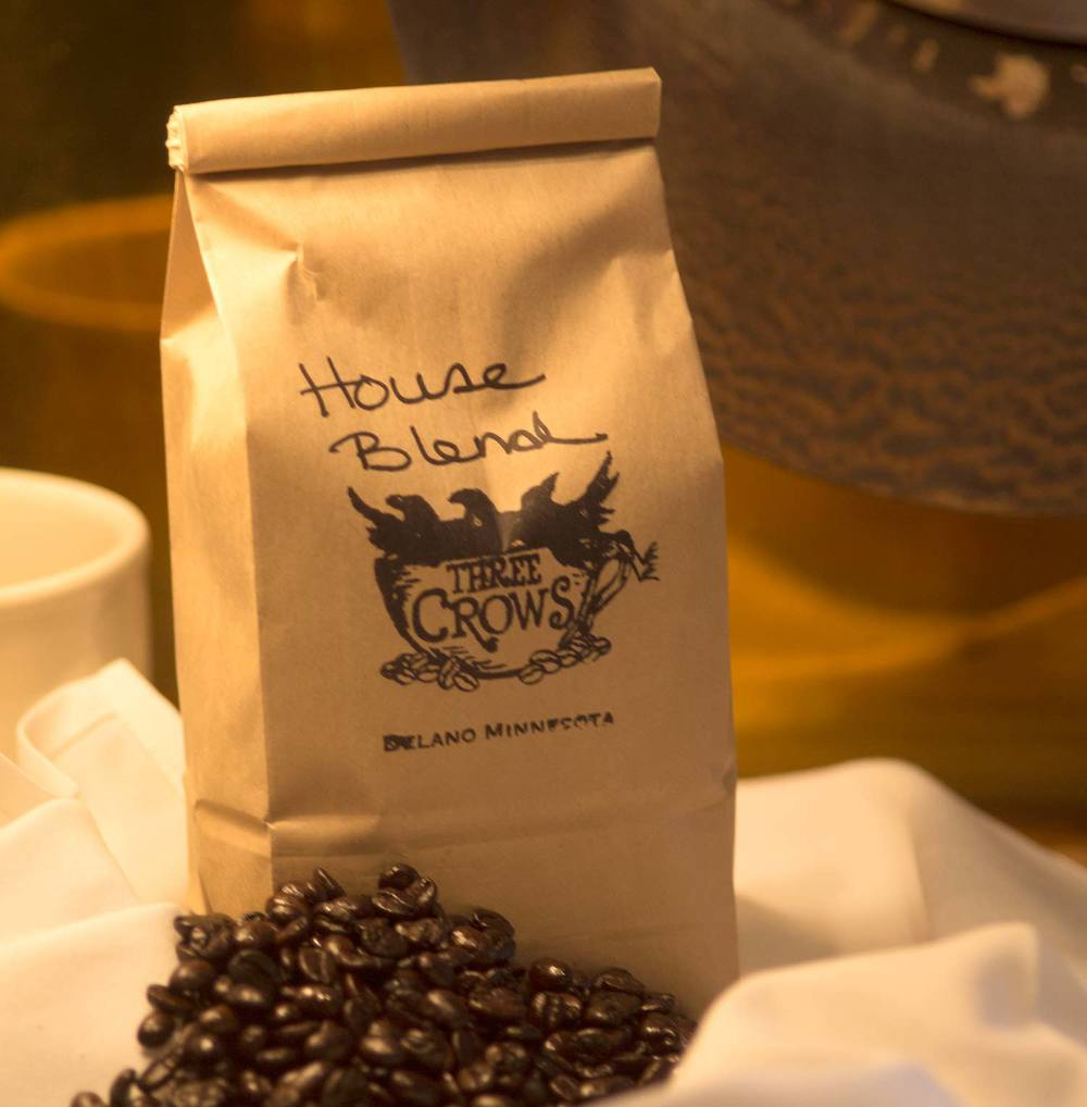 House roasted coffee beans