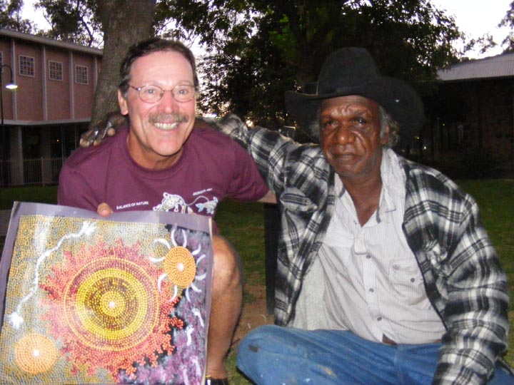The Aborigines in Alice Springs, Australia had a profound impact on the work that I do in painting and the processes involved.  World travel continues to influence what and how I paint the world around me.
