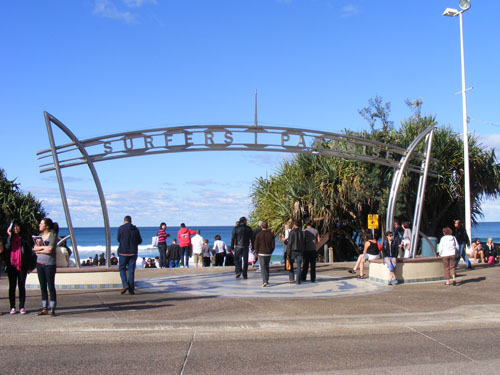 Entrance to Surfer's Paradise.