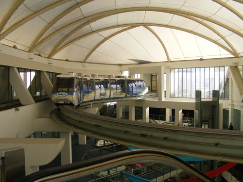 This one mall had a monorail that went from building to building.