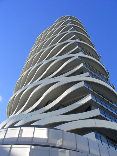 "This buidling is called ""The Wave"". One of many incredible skyscrapers we saw."