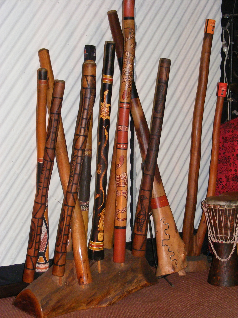 Some of the instruments used in the show.