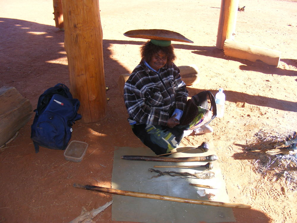 Some tools of the trade in Aboriginal culture used in the desert