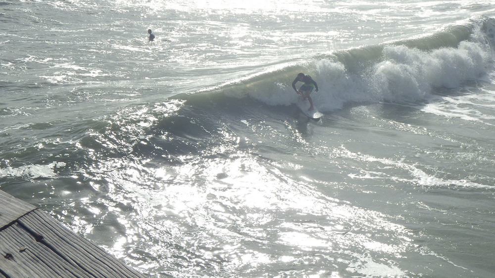 Cocoa Beach Pier wind chop
