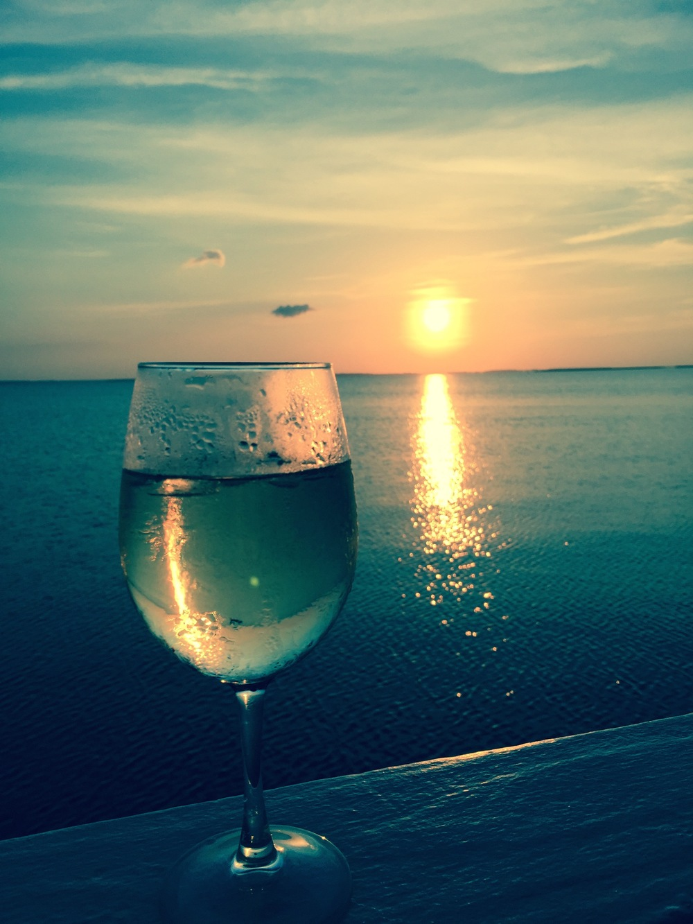 What a great place to have a glass of wine after a long hot hard day!