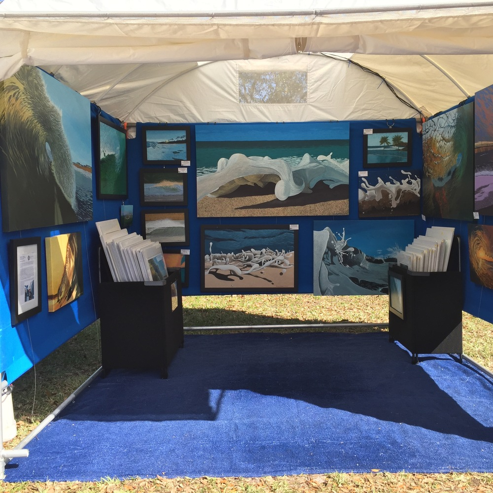 My booth at ArtisGras in Palm Beach county (Jupiter, FL)