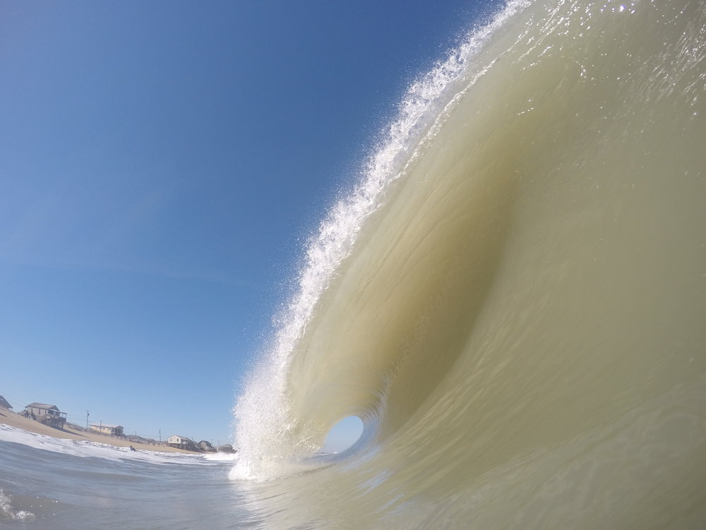 Last but not least, remember those hurricanes I spoke of?  Mathew gave us nothing but grief and floods but Hurricane Nicole paid of nicely the first three days, especially the Wednesday I went to Kitty Hawk and surfed and shot some pretty epic waves.  Barrel count that day was sensational!