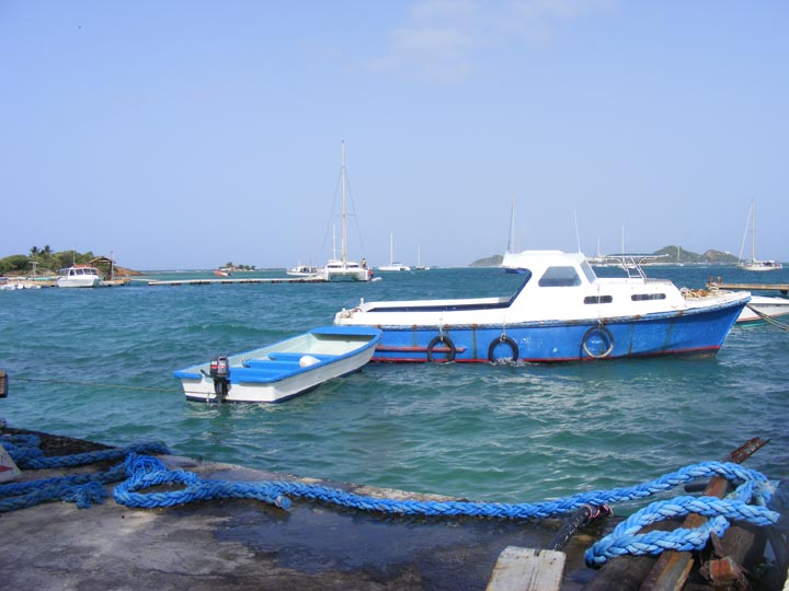 Boats at Union Island