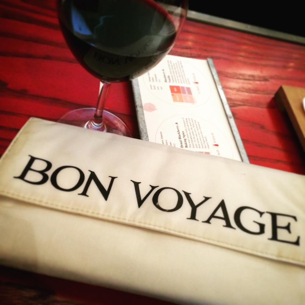 Of course my pre-flight ritual involves wine.