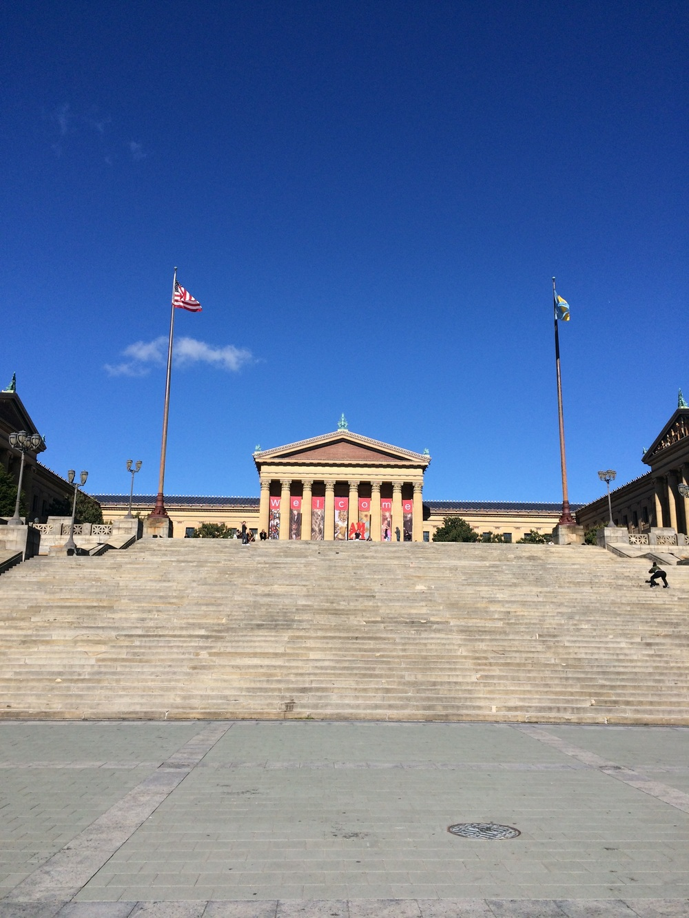 My weekend view of the Philadelphia Art Museum.
