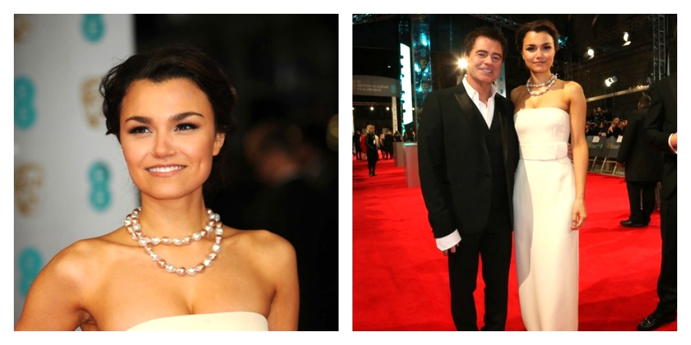 Samantha Barks Red Carpet BAFTAs