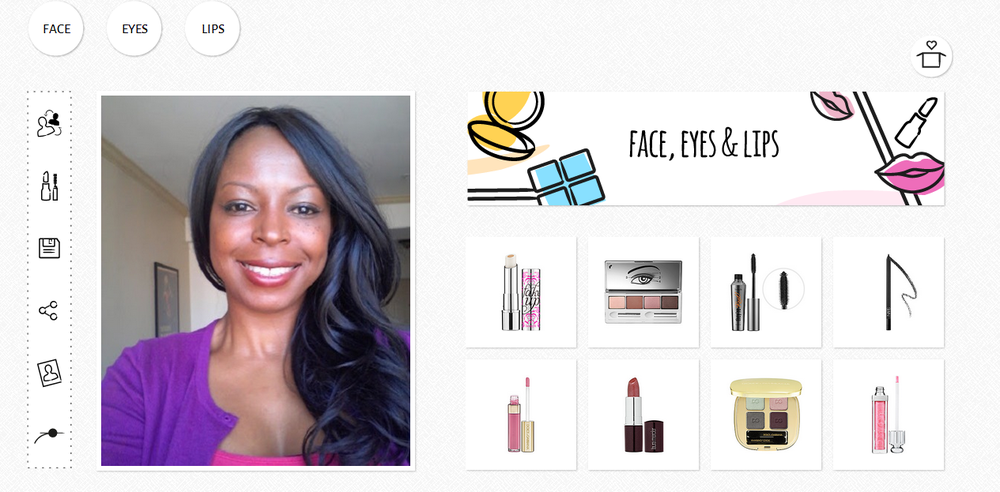 GlamST virtual makeover