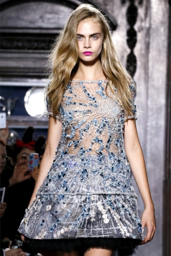 Cara Delevingne  SS13 Giles London Show Styled with label.m. Sea Salt Spray