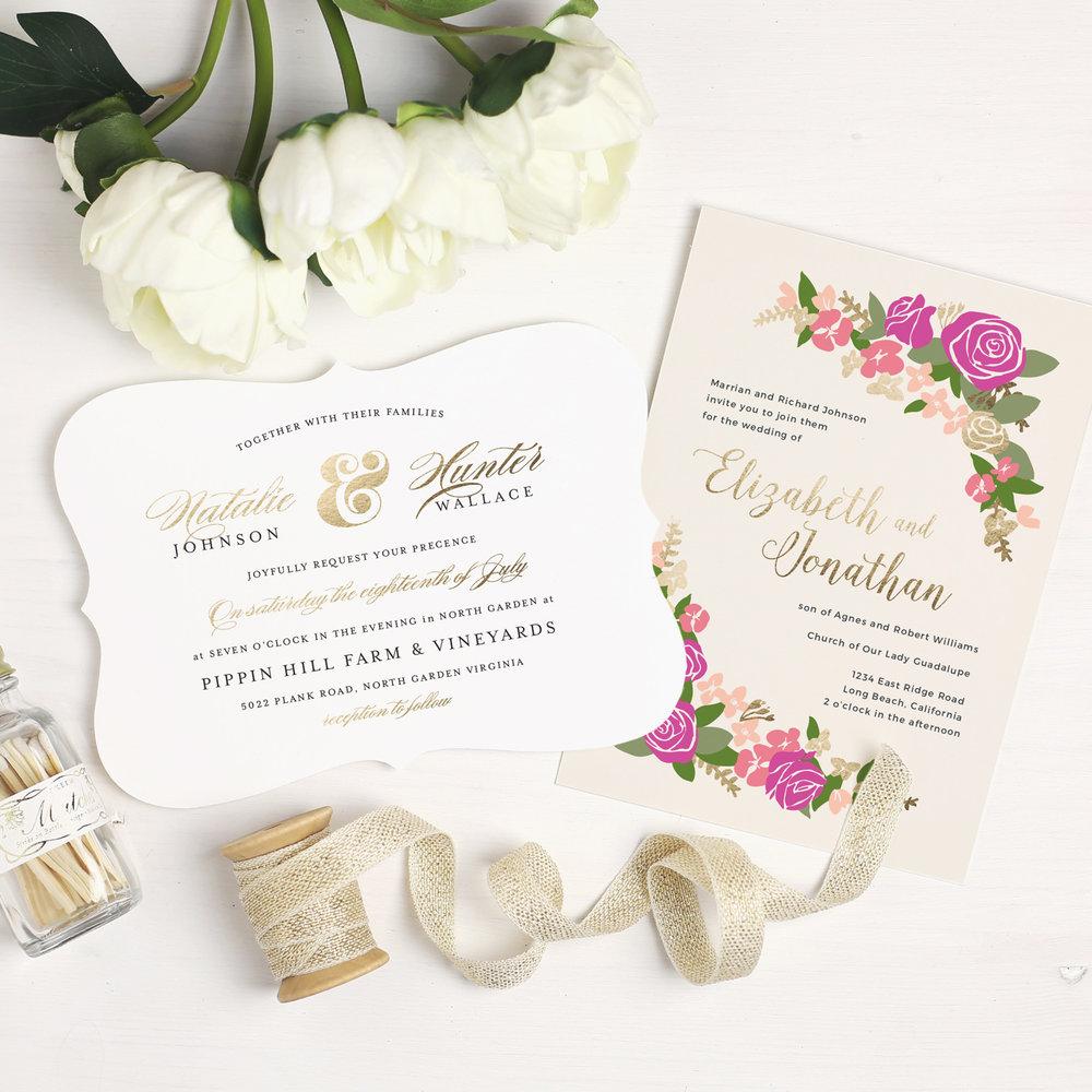Design Beautiful Wedding Invitations Online with Basic Invite Posh