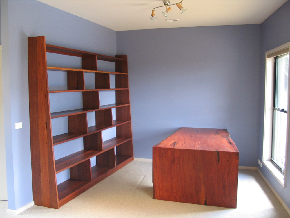 Bookshelf in Recycled Red Hardwoods