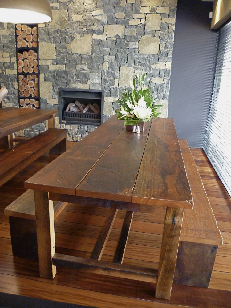 T5 Refectory Table in Recycled Blackbutt