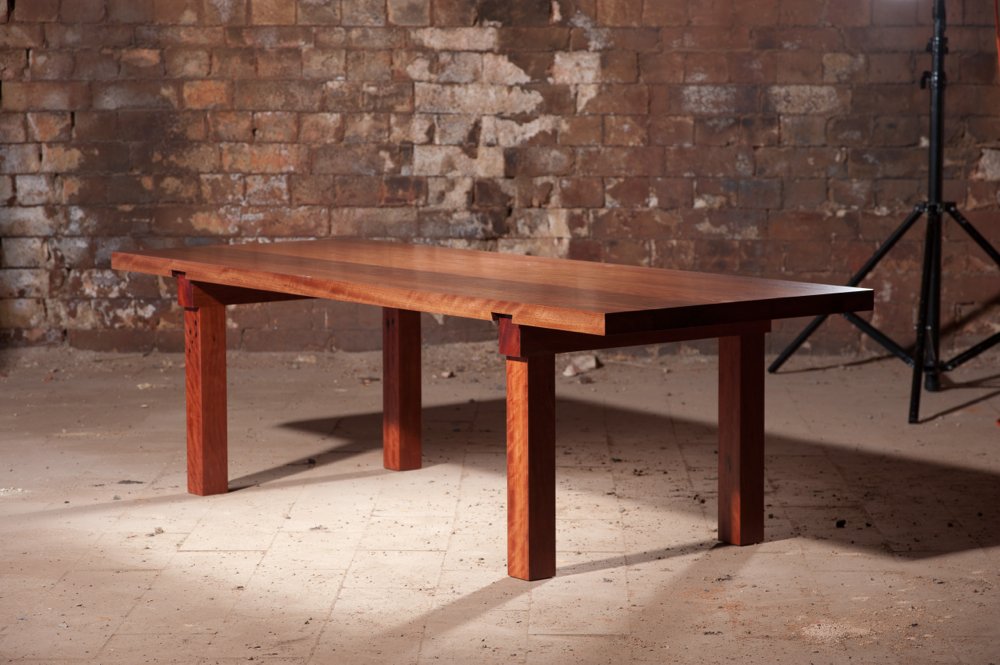 T7 Dovetail Low Table in Red Ironbark