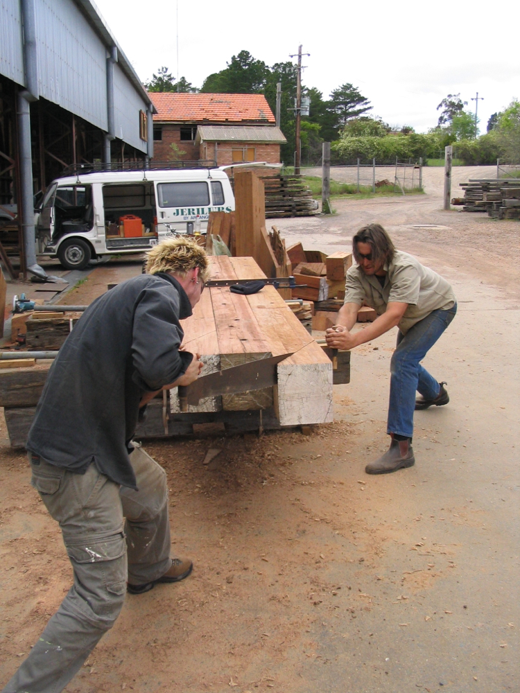 Testing the old two man saw