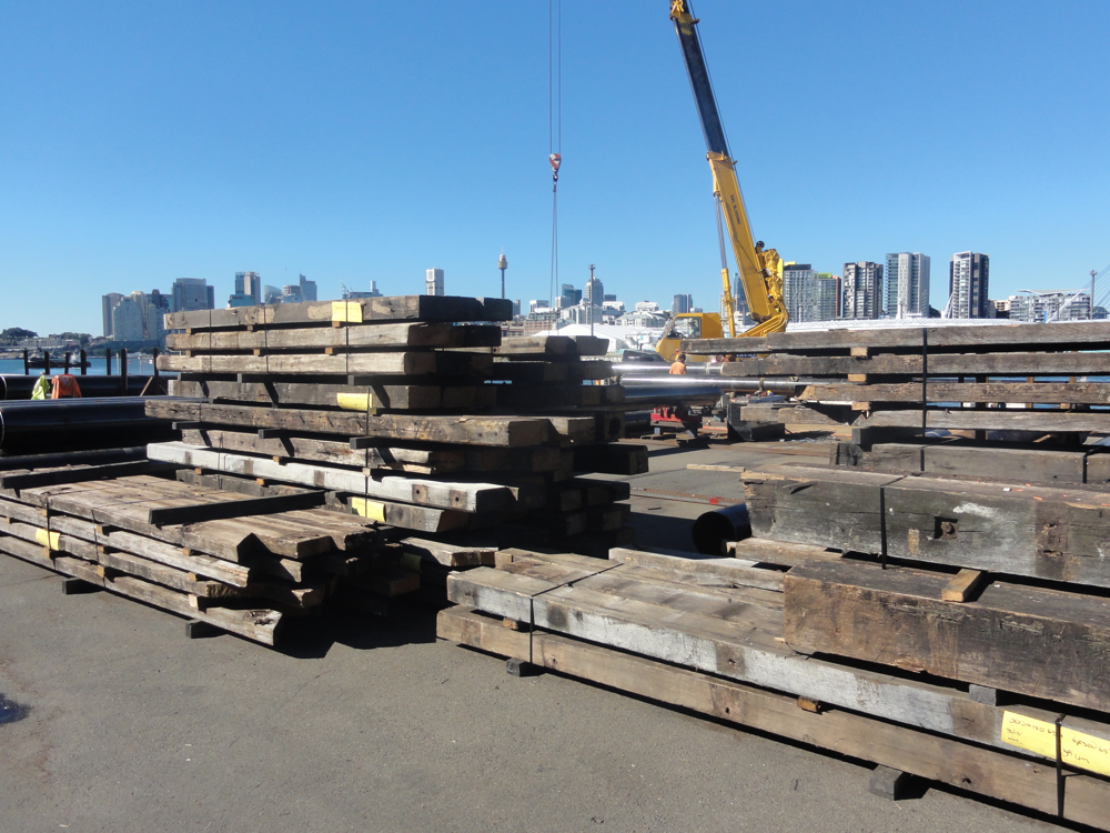 Pier 26 Darling Harbour Wharf Timbers