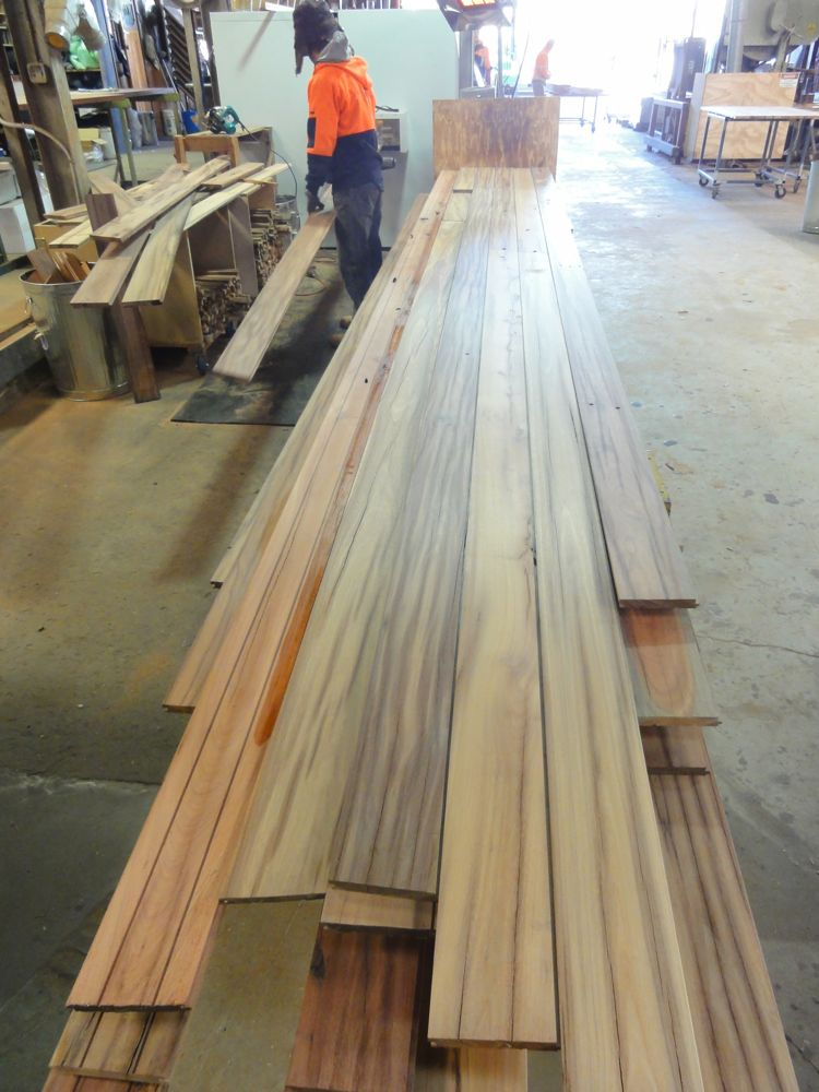 Timbers sawn from telegraph poles