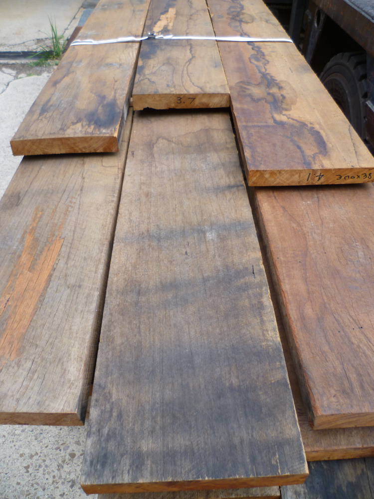 Salvaged Spotted Gum ready for re finishing