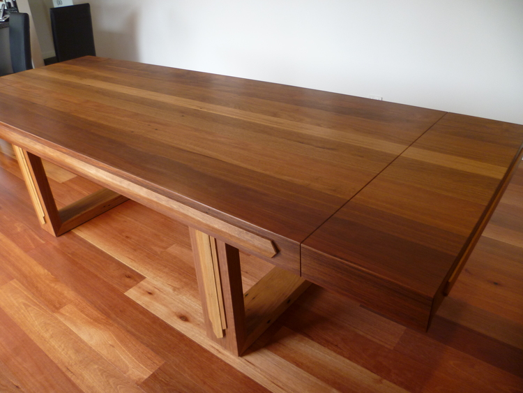 Here is an example of an Art Deco inspired table made by us using Recycled Spotted Gum.