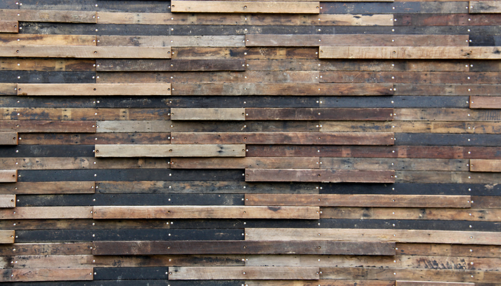 Recycled timber cladding supplied in a mix of sizes and species, salvaged from house roof timbers and square edge flooring from the Q Stores demolition in Alexandria.