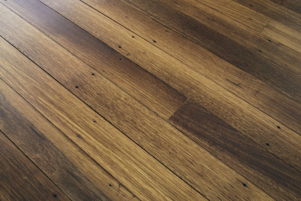 Salvaged Black Butt flooring from RAAF Richmond installed in Downer, ACT.