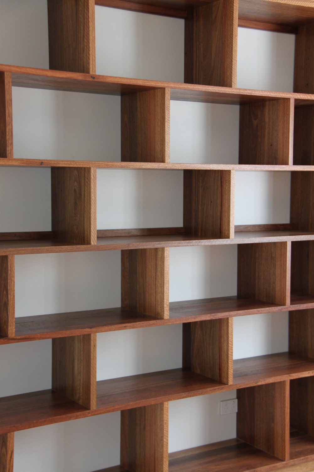 Recycled Spotted Gum book shelving
