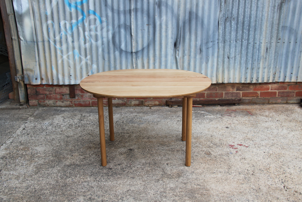 American Oak Dowel Leg Table